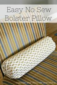 No Sew Bolster Pillow Cover