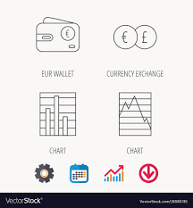 Currency Exchange Chart Currency Exchange Chart And Euro Wallet Icons