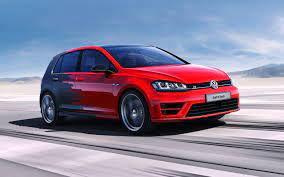 Wallpaper Volkswagen Golf R concept red ...