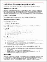 Post Office Counter Clerk Sample Resume Adorable Post Office Clerk Resume Sample Inspirational Fice Clerk Resume