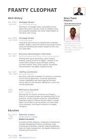 Mortgage Broker Resume samples