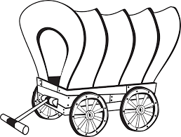 black and white covered wagon. covered wagon coloring page black and white