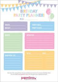 Paperdivas Blog Free Party Planner Printable