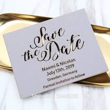 Save The Date For Wedding Us 34 79 13 Off Laser Cut Grey Save The Date Laser Cut Wedding Save The Date Cards Wedding Invitation Cards In Cards Invitations From Home