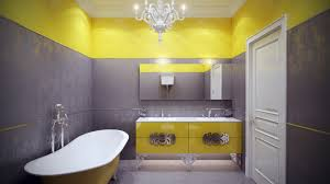 Home Design  Gray And White Bathroom Yellow Decor Grey - Yellow and white bathroom
