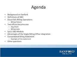 Sanford One Chart Ppt Sbo For Your Cbo Presented By Tony Morrison Director