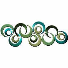 abstract circles metal wall art