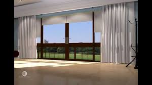 Blinds And Curtains Together Curtain Tracks With Blockout Roller Blinds Youtube