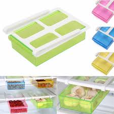 slide kitchen fridge freezer space saver refrigerator storage rack shelf multifunction storage tools