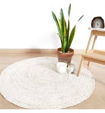 round nutmilk jute rug of mukhas collection