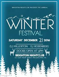 Winter Festival Event Flyer Template Winter Festival