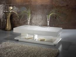 image of modern white coffee table decor
