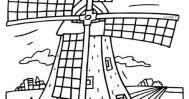 Kleurplaat Molens Thema De Molen Kleurplaten Holland Resume Simple
