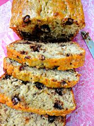 a spin on the clic super moist banana bread studded with chocolate chips