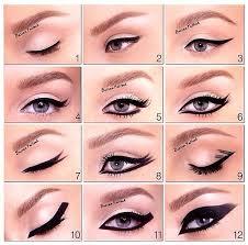 applying eyeliner to eyes in diffe styles eyeshadow for eye type how apply eye makeup curl