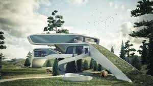 Futuristic Self Sustaining House Concept On Stilts Modern House - Futuristic home interior
