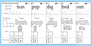 Select the topic to view and print available worksheets. Cvc Writing Word Worksheet Pdf Teacher Made
