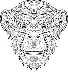Small Picture Chimpanzee coloring page Animal Coloring Pages for Adults