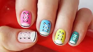 Shoe Nails | Sneakers Nail Art for Short Nails, Nail Art for ...