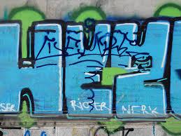 urban graffiti font on grunge wall