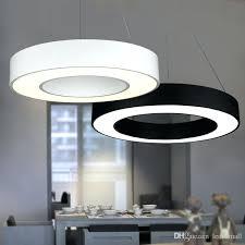 circular pendant light modern office led circle lights round suspension hanging lamp ring fixtures uk