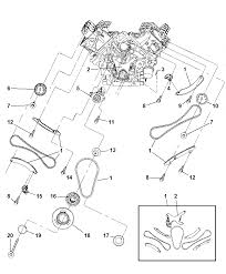 2007 jeep mander timing chain timing cover and related parts