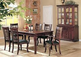 cherry dining room hutch furniture distributors cherry dining table w 4 side chairs 2 arm chairs buffet hutch