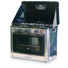 stansport outdoor propane gas stove and camp oven stainless steel