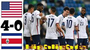 USA vs Costa Rica 4-0 Highlights All ...