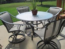 round patio table and chair best on outdoor dining sets