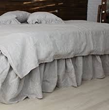 low profile bed skirt.  Bed Linen Bed Skirt With Gathered Ruffles And Cotton Decking  Natural  Oatmeal White Or To Low Profile F
