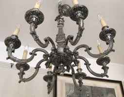 an antique silver plated chandelier