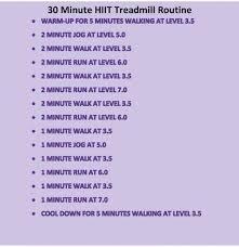 hiit cardio workout treadmill