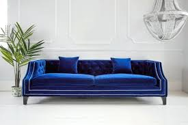 The French Bedroom Company The French Bedroom Company Imperial Blue Velvet  Sofa French Bedroom Company .