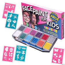 917t16exiql sl1500 kids paint kit coloring face with 30 stencils large painting set for 12
