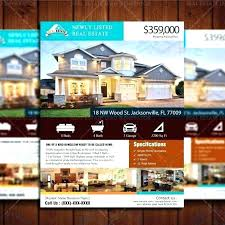 Home Flyers Template Real Estate Listing Flyer Template Free Brochure House For