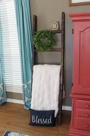 diy blanket ladder farmhouse living room