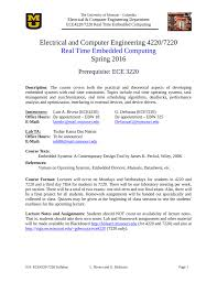 Embedded Systems Design Notes Electrical And Computer Engineering 4220 7220 Real