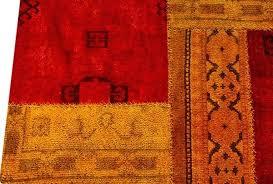 red and orange rug teal mat vintage renaissance area