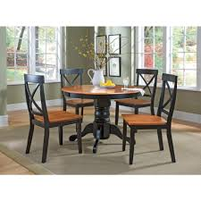 home styles 5 piece black and oak dining set 5168 318 the depot