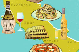 italy food map 16 italian foods and