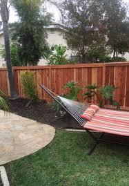 wood fence backyard. Residential High Quality Redwood Fencing Wood Fence Backyard