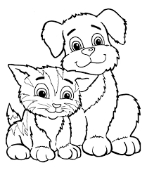 Small Picture Puppy With Kitten Coloring Pages Coloring Pages