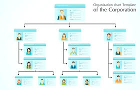 Sample Organizational Chart In Excel Flat Design Circular Org Chart Template Organizational Ppt Templates