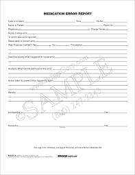 Briggs Healthcare 3118 Medication Error Report 3 Part Form 250 Per Pad