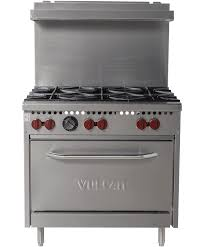 Commercial gas range Imperial 36 Inch Stainless Steel Commercial Gas Range Standard Oven Open Top Burners Vulcan Equipment 36 Inch Stainless Steel Commercial Gas Range Vulcan Equipment