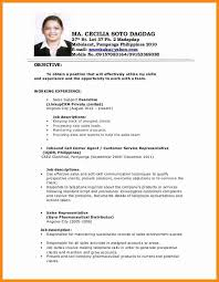 Filipino Resume Objective Sample Gentileforda Com