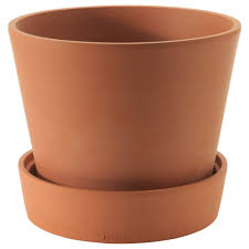 IngefÄra vaso con sottovaso esterno terracotta 15 cm ikea