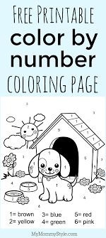 Make your world more colorful with printable coloring pages from crayola. Color By Number Coloring Page Free Printable My Mommy Style Printables Free Kids Kindergarten Colors Preschool Coloring Pages