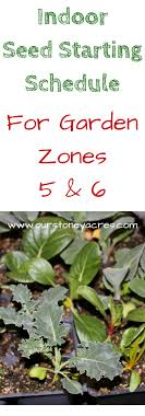 Seed Starting Chart Zone 6 Zone 5 6 Seed Starting Schedule The Best Of Stoney Acres